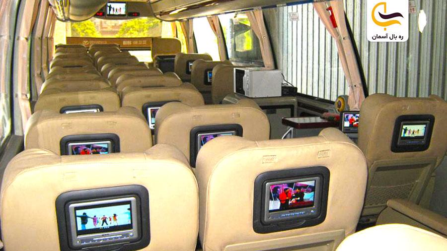 خدمات انواع اتوبوس VIP