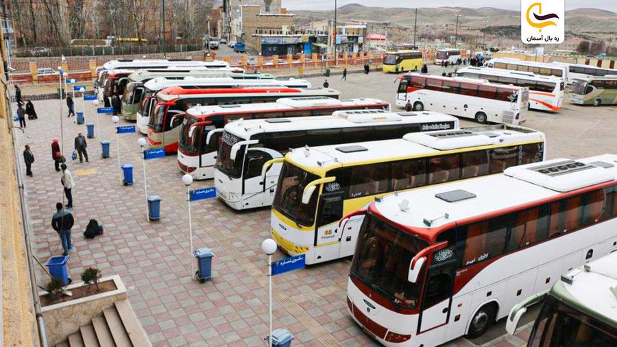 نمایی از پایانه اتوبوسرانی شیراز